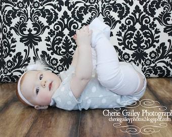 White Baby Leg Warmers Slightly Irregular
