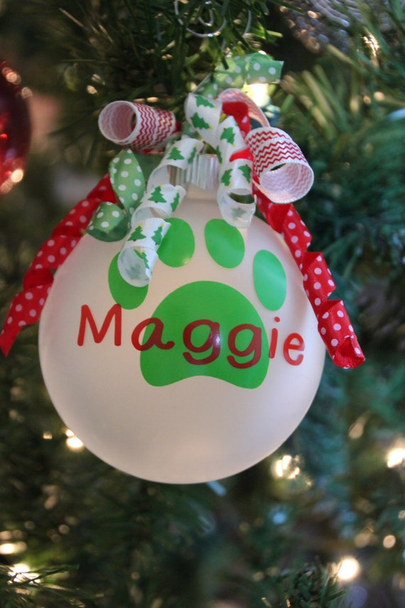 Personalized Dog or Cat Ornament Pets Holiday Ornament Dog