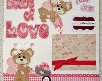 Tear Bear Love Layout Handmade by Jennifer