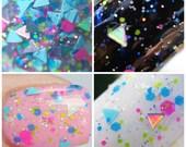 Baby Unicorn Horns - Triangle Glitter Topper Nail Polish - Nail Polish Topcoat - Holographic Glitter, Neon Glitter and Iridescent Glitter