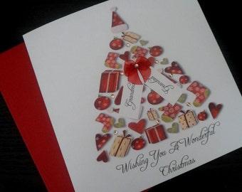 Handmade Personalised Tag Christmas Card