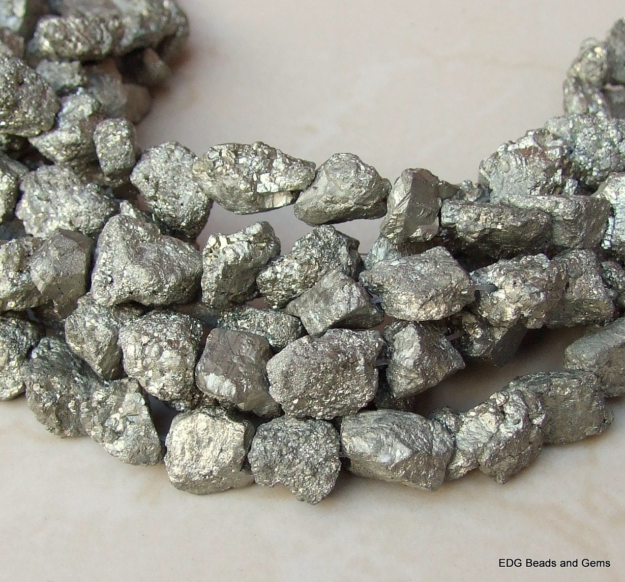 Gold Pyrite Nuggets Rough Raw Natural 13mm 18mm 7