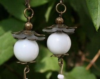 """Earrings """"White Pearls"""""""