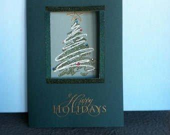 Happy Holidays Window Card