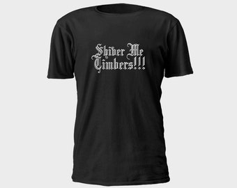 Mens Pirate T-Shirt - Shiver Me Timbers