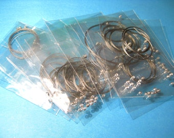 10pks Jewelry Wire Bracelet Making Kits With Crimps and Silver Bead Jewelry Kit