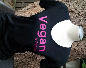 Vegan is Peace - Bamboo & Organic Cotton Scoop Neck Shirt