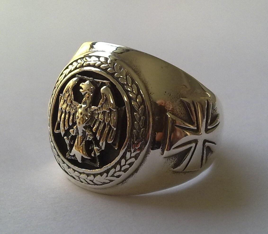 aigle allemand crodss bague en argent sterling 925