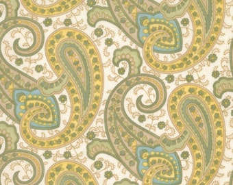 Prayer Flag Paisley in Cream by April Cornell