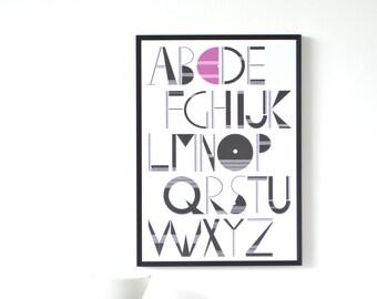 PERSONALISED Alphabet Art Print