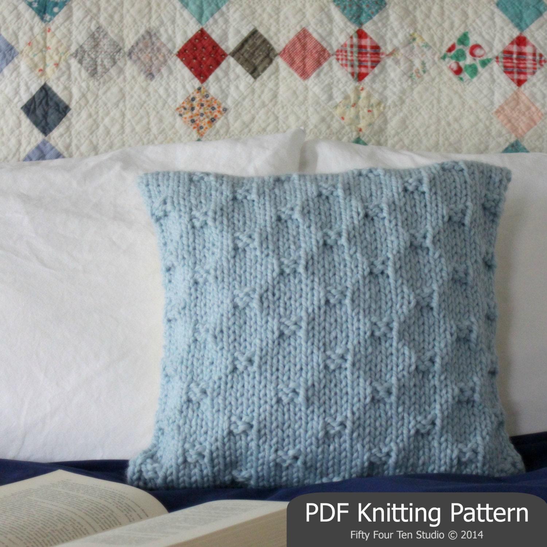 Nautical Cushion Knitting Pattern : KNITTING PATTERN / Pillow / Cushion / Quick & Easy Knit