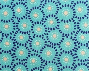 100% Cotton Fat Quarter Fabric Freedom Blossom Floral on Turquoise