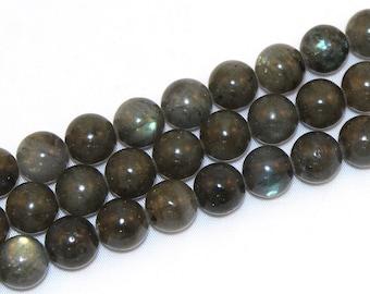 Round Labradorite Beads, 10-12mm, 16 Inch Strand