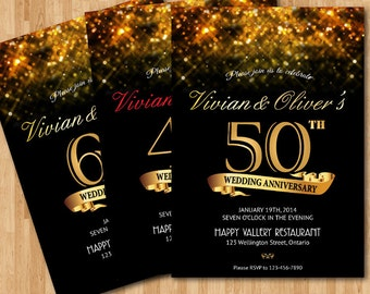 40th Wedding Anniversay Gold glitter background. 30th 40th