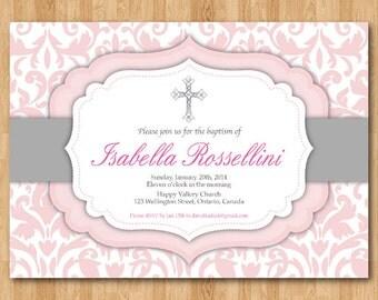 rustic baptism invitation. wood baptism invites. cross by arthomer, Baptism invites