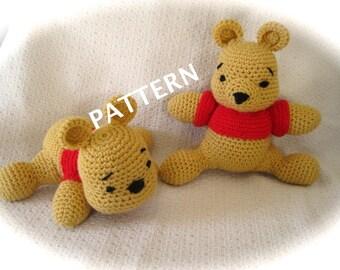 Crochet Bear Pattern, 2 Styles in 1, Stuffed Bear for nursery decor