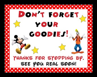 Mickey Mouse Party Printables - Digital Files