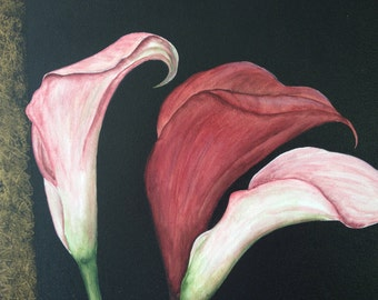Original Calla Lily Painting