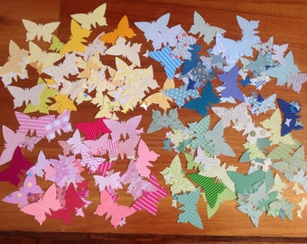Butterfly confetti, paper confetti, 4 colours to choose from, mixed colour confetti , tags,