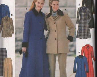 Simplicity 7838 UNCUT Petite Coat or Jacket and Pants Sewing Pattern ID590