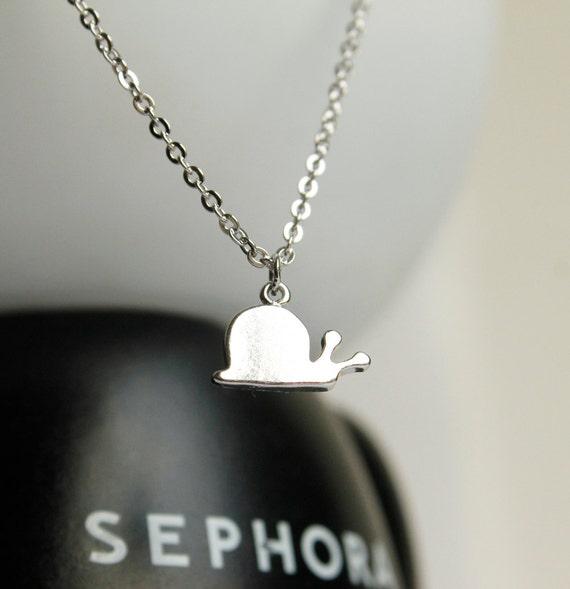 Ketting slak in goud / zilver, Vriendschap Gift, cadeau voor meisje