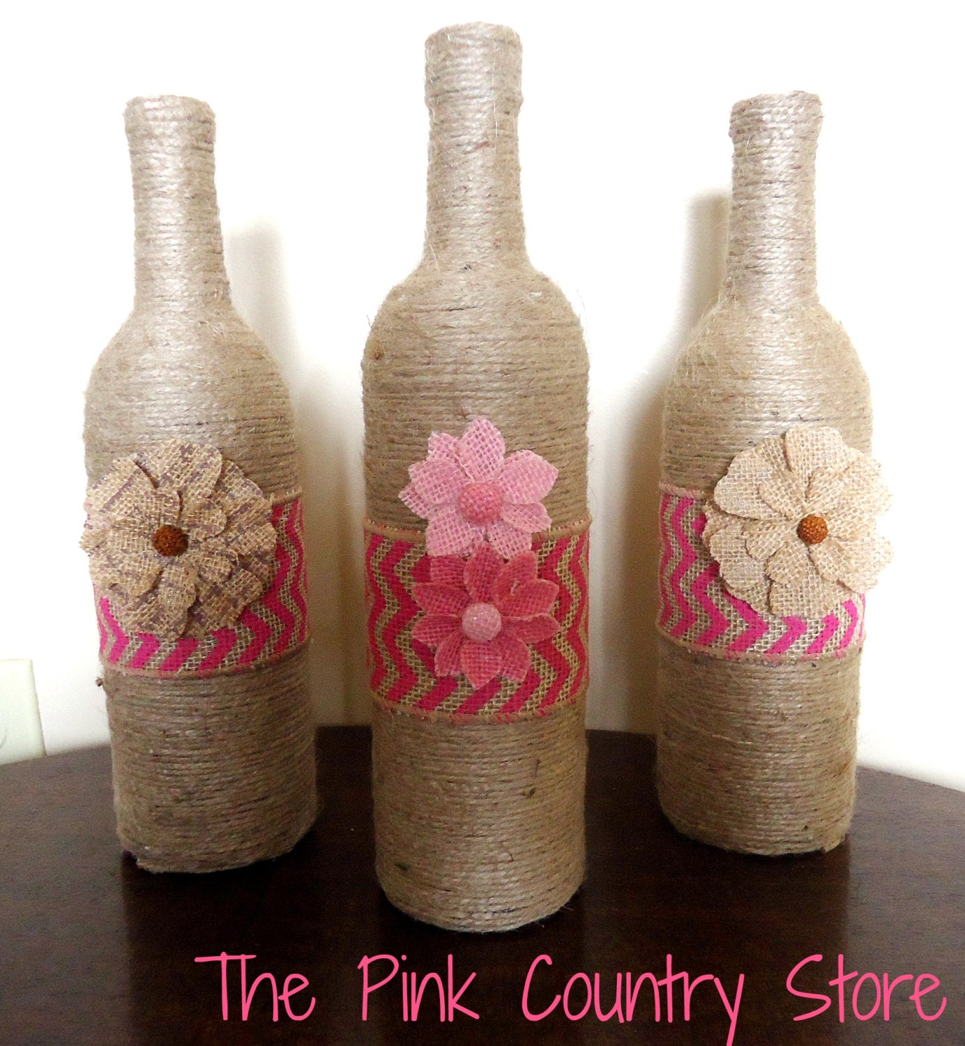 How to Make Twine Wrapped Vases from Wine Bottles: 10 Steps |Twine Covered Wine Bottles