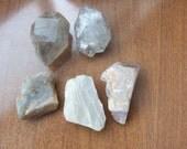 Two  quartz three moonstone. Gemstones. (3M2Q)