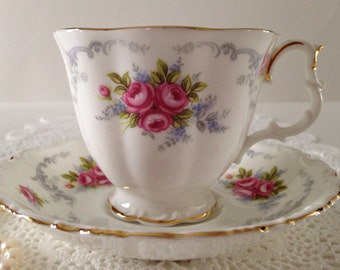 "Royal Albert China Tea Cup & Saucer ""Tranquility"" Pattern"