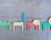 Unique Nursery Mobile - Lasercut Wood Mobile - Safari Nursery Decor - Modern Crib Mobile