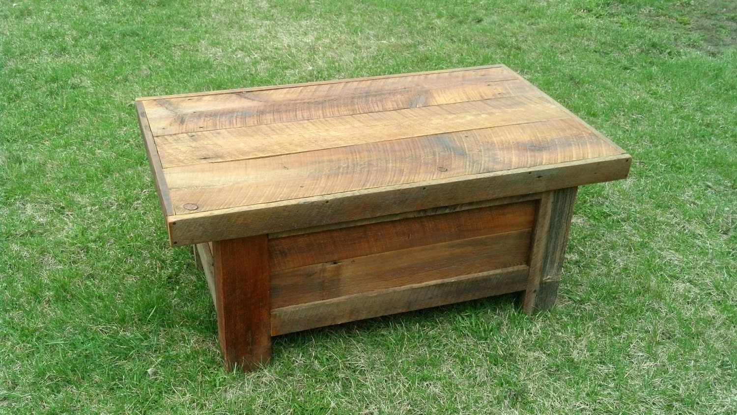 Reclaimed Wood Barn Wood Coffee Table Chest By 406rustic On Etsy