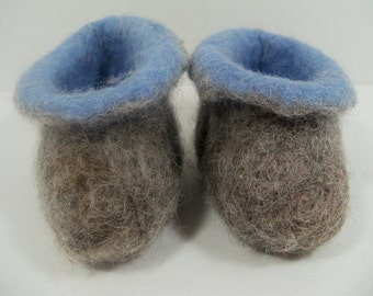 Wet Felted Slippers