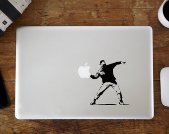 Banksy Rioter MacBook Decal
