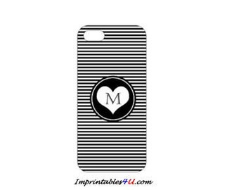 Custom Monogram-Black case for iPhone 5/5S smartphones.