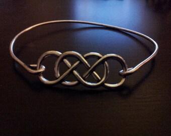Double Infinity Bangle