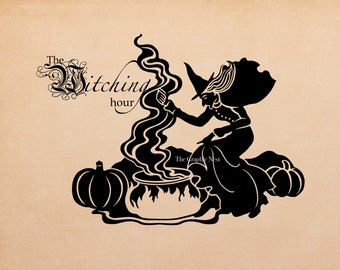The witching hour graphic. Digital download