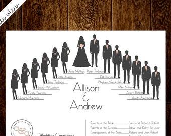 Wedding Silhouette Program