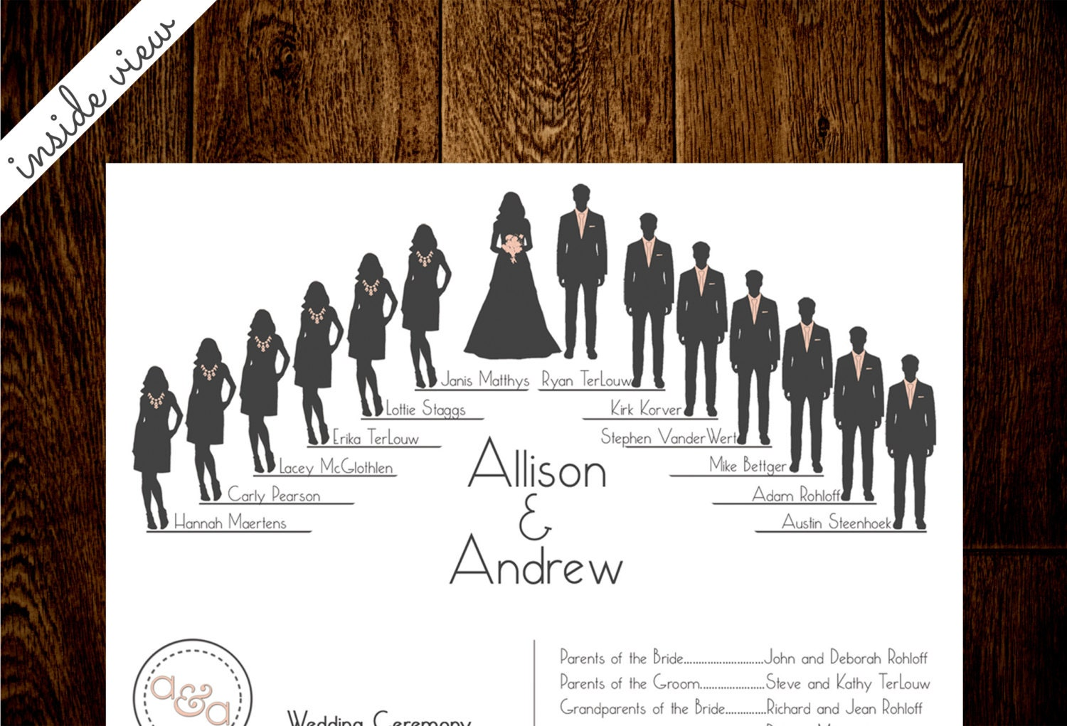 Wedding Party Silhouette Clip Art Program - More information