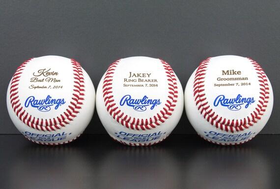 Baseball Wedding Gifts: Ring Bearer Baseball Personalized Gift Wedding Party Favor