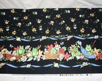 """Toad Border """"Toad-ally Yours"""" (black) Fabric Collection"""