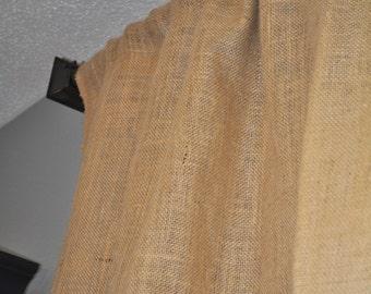"""Pair of """"The Standard"""" Burlap Curtain Panels  84"""" Long"""