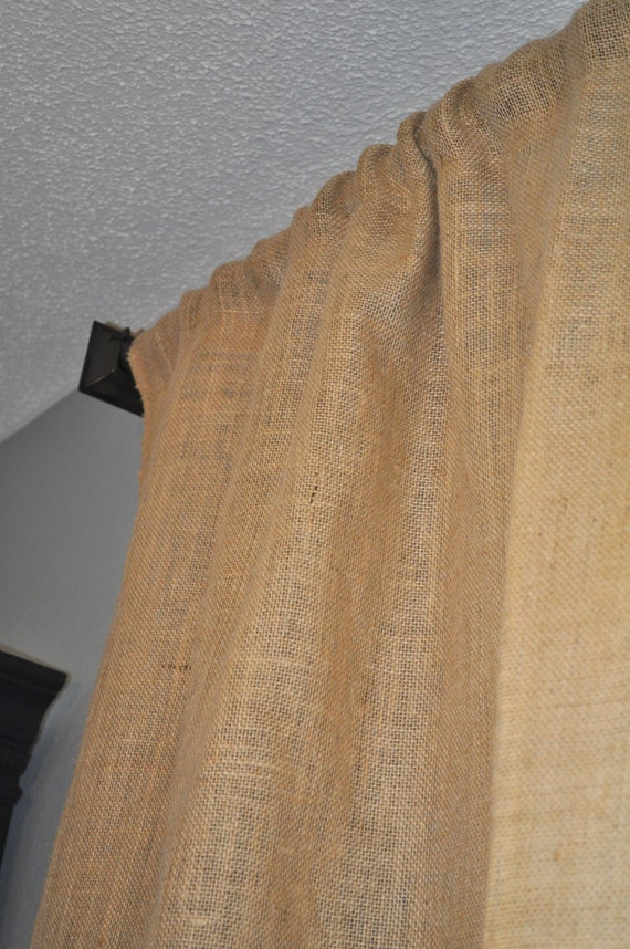 Pair of The Standard Burlap Curtain Panels 84 by NaptimeDIYer