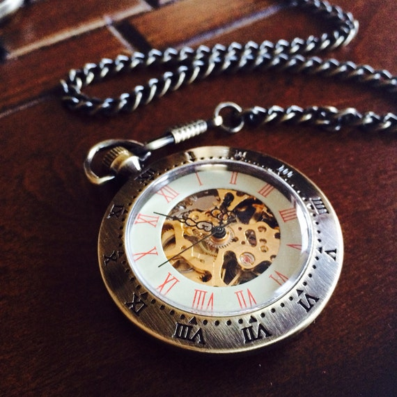 items similar to set of 8 pocket watches wind up
