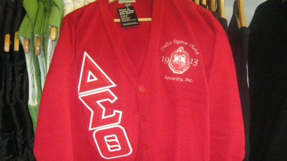 Etsy your place to buy and sell all things handmade - Delta sigma theta sorority cardigans ...