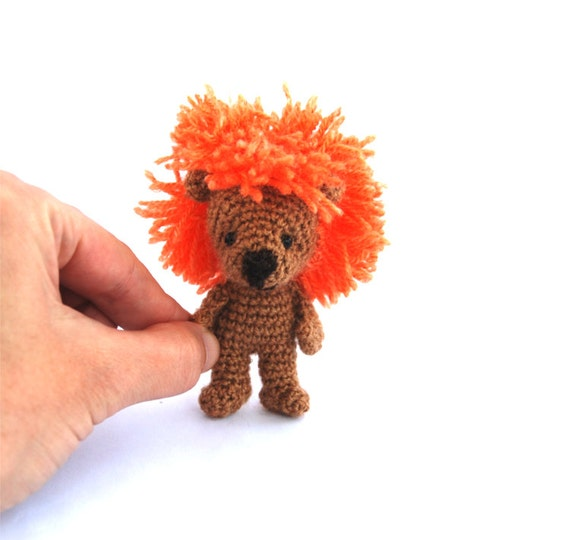 Little Amigurumi Lion : crochet miniature lion tiny lion little lion amigurumi lion