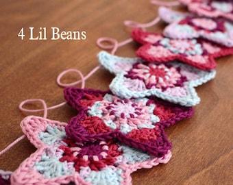 Crochet Pattern. Crochet Garland Pattern. Crochet Star Pattern. Crochet Bunting. Crochet Tutorial (Pattern 07) INSTANT  DOWNLOAD
