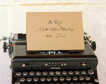 A Very Merry Un-Birthday Card : Kraft Paper LBC