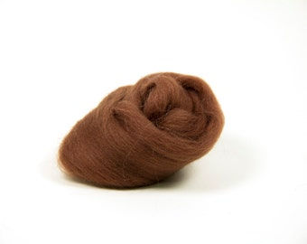20 grams Brown Needle Felting Merino Wool High Quality