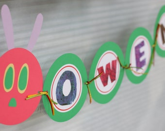 Very Hungry Caterpillar birthday banner / PERSONALIZED / READY-MADE