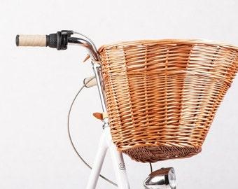 Handmade wicker bicycle basket, Dandy