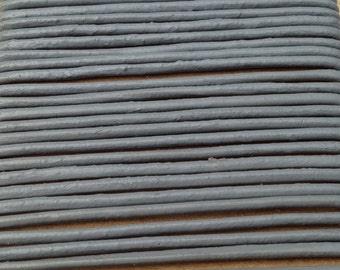 1.5 mm. Leather Cord, Gray (L 003)